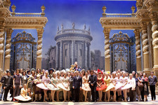 Bolshoi Ballet company on the stage of Bolshoi theatre Main (Historic) Stage